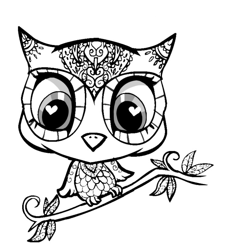 5 Images of Cute Owl Printable Coloring Pages