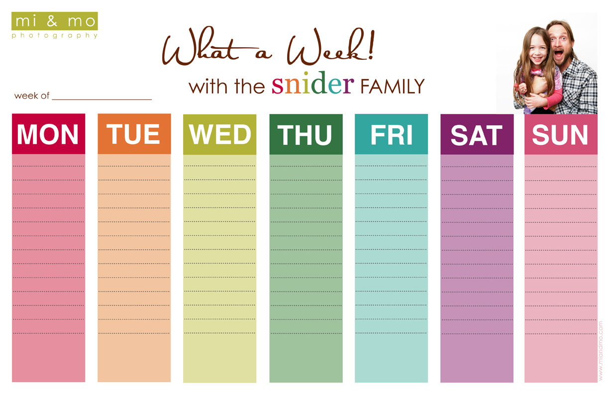 Cute Weekly Calendar Printable : Best images of fun weekly calendar printable free