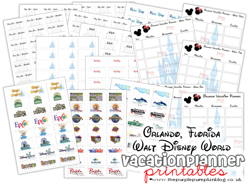 6 Images of Disney Vacation Planner Printable