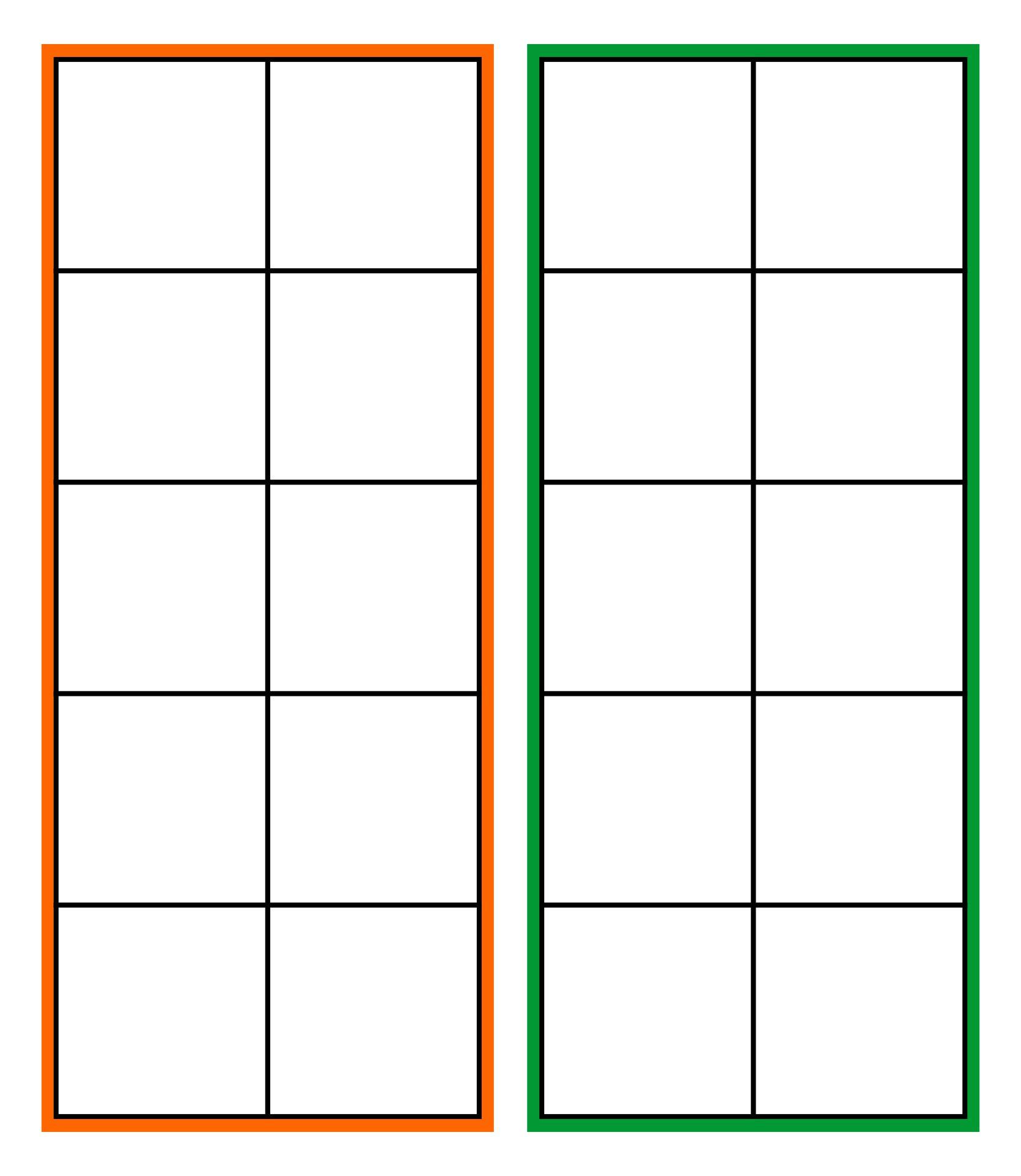 Best Images of Ten Frame Template Printable - Blank Ten Frames ...