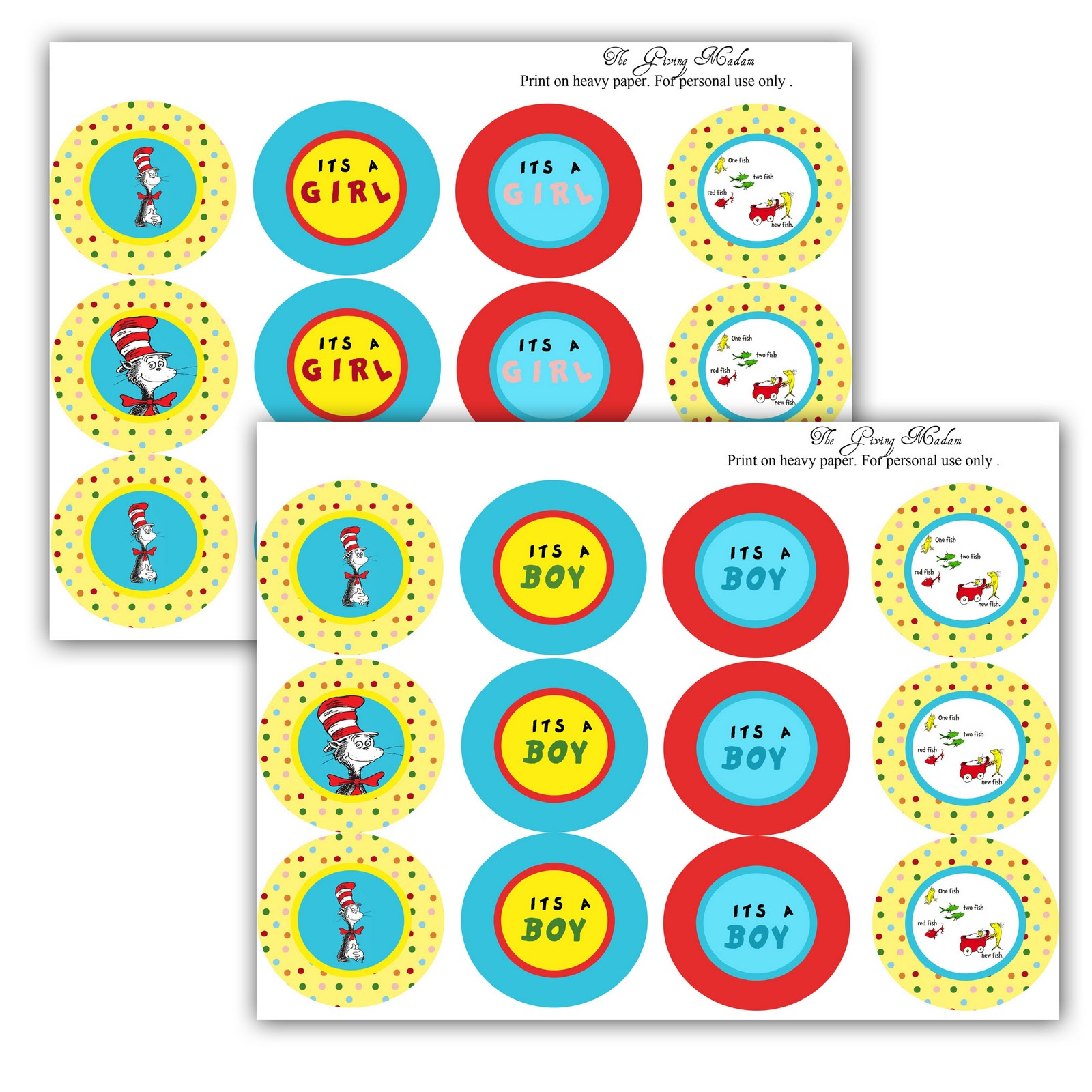 9 Images of Free Printables Dr. Seuss Baby Shower Food
