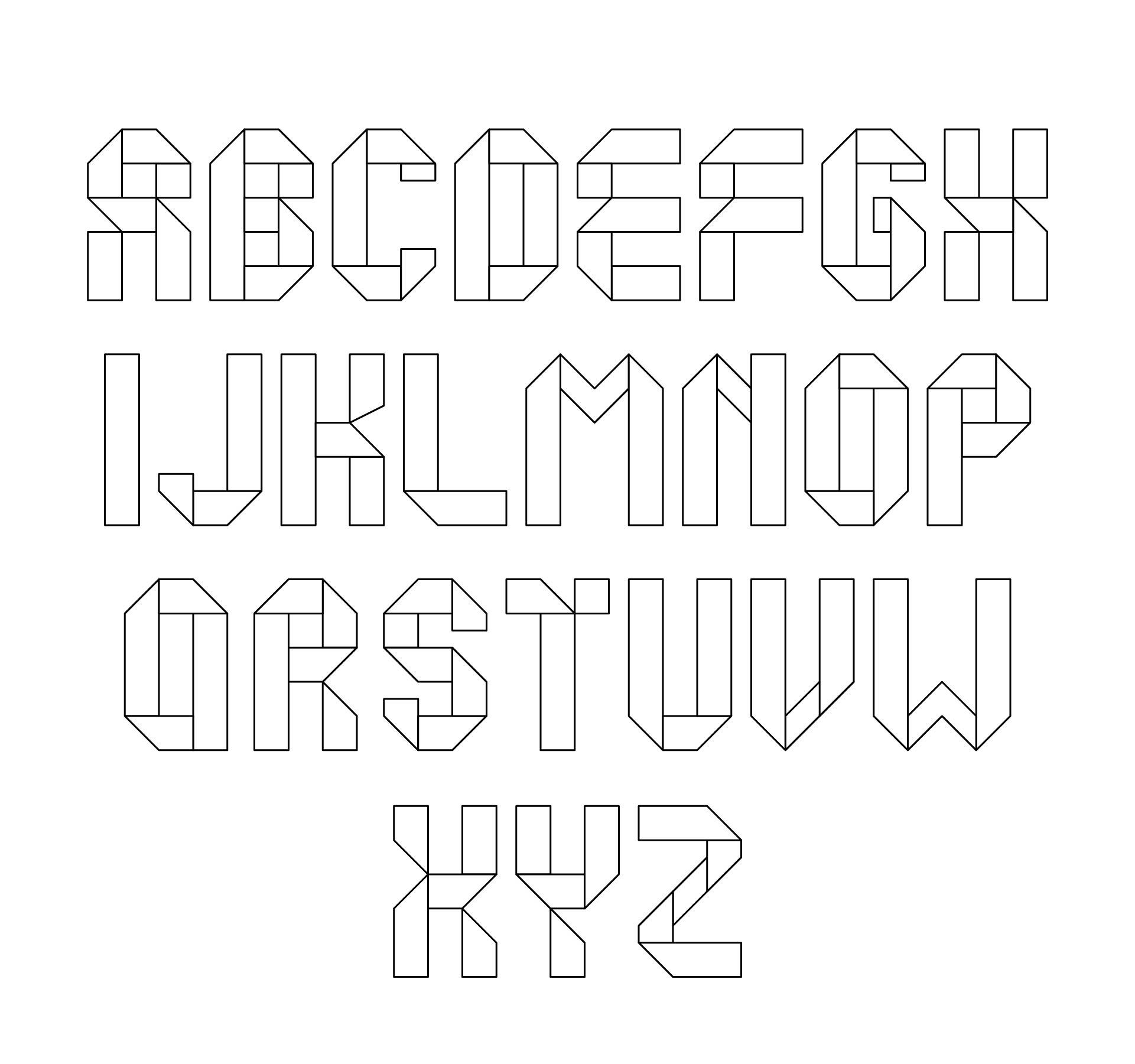 Free Alphabet Letter Stencils