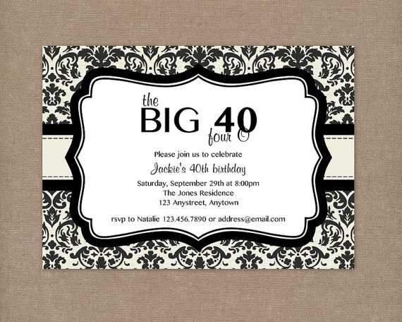 9 Images of Men 40th Birthday Invitations Printable