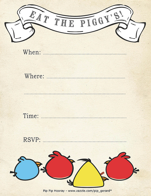 Free Printable Angry Bird Invites