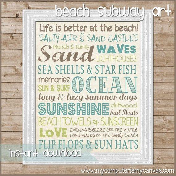 9 Images of Ocean Subway Art Printable