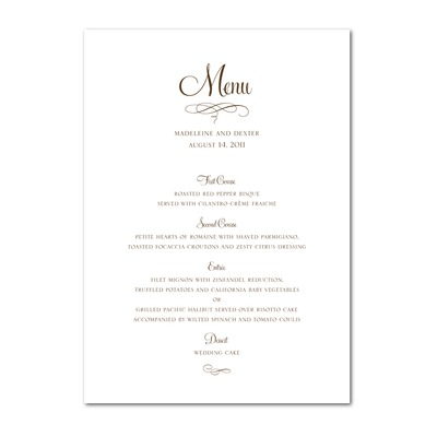 5 Best Images of Free Printable Menu Cards - Free ...
