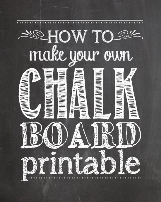 Free Printable Chalkboard Template