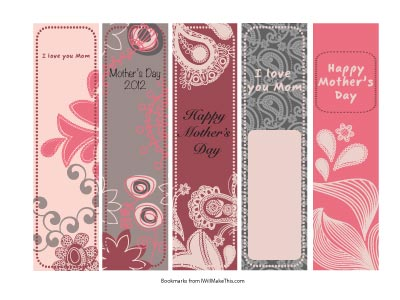 Free Printable Christian Bookmarks Mother's Day
