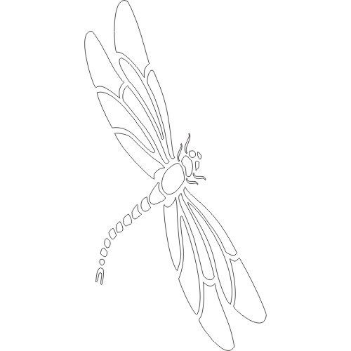 6 Images of Free Printable Dragonfly Stencil