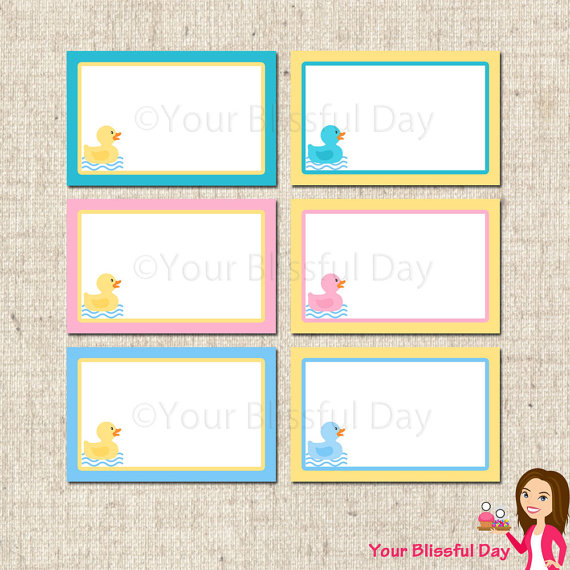 6 Images of Rubber Ducky Baby Shower Free Printables
