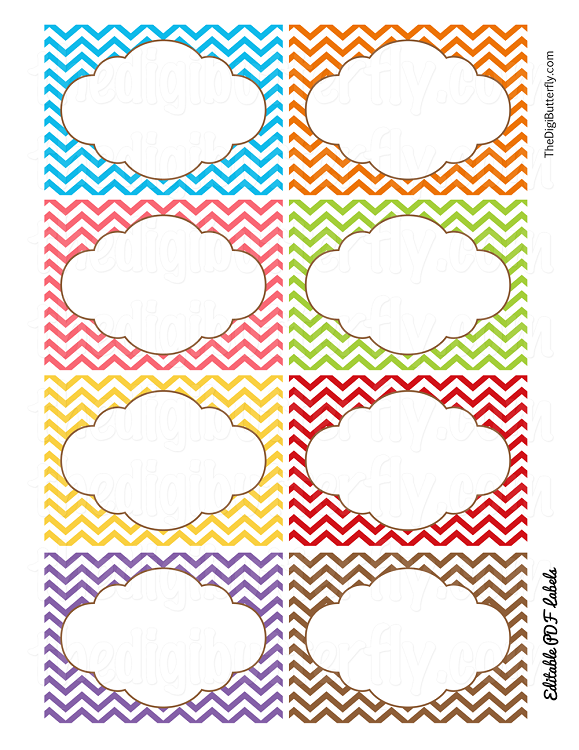 4 Images of Chevron Printable Template For Lables