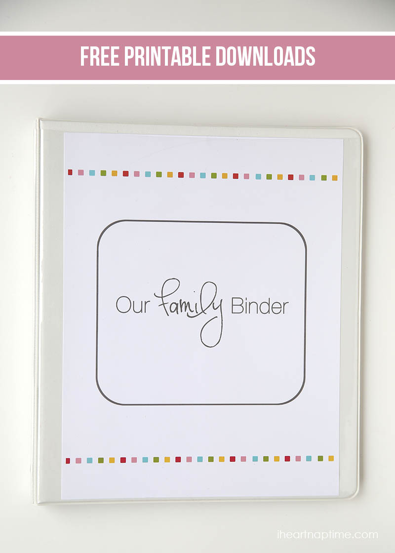 6 Images of Free Printable Family Binder Template