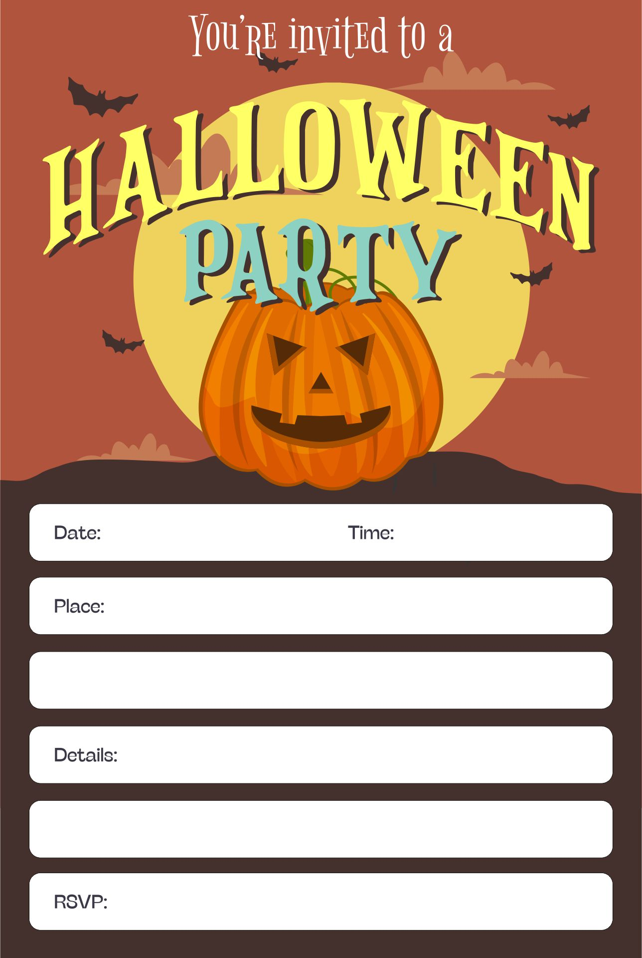 6 Images of Printable Halloween Invitations