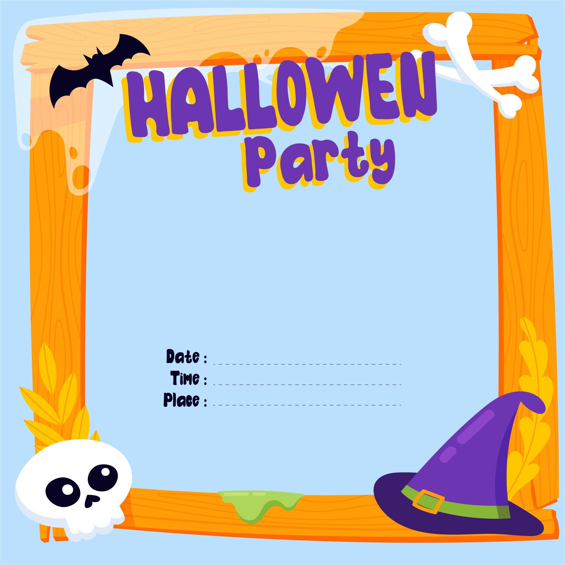 Printable Halloween Party Invitations Free – Costume Party Invitations Free Printable