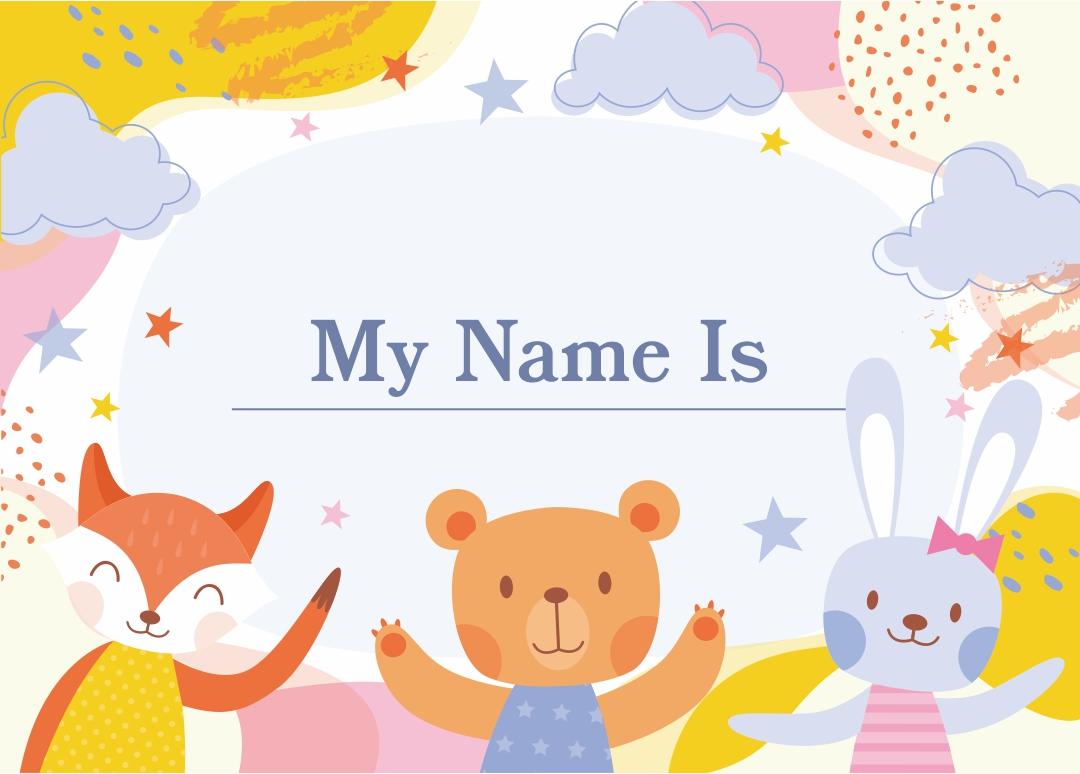 Printable Kids Name Tags Templates