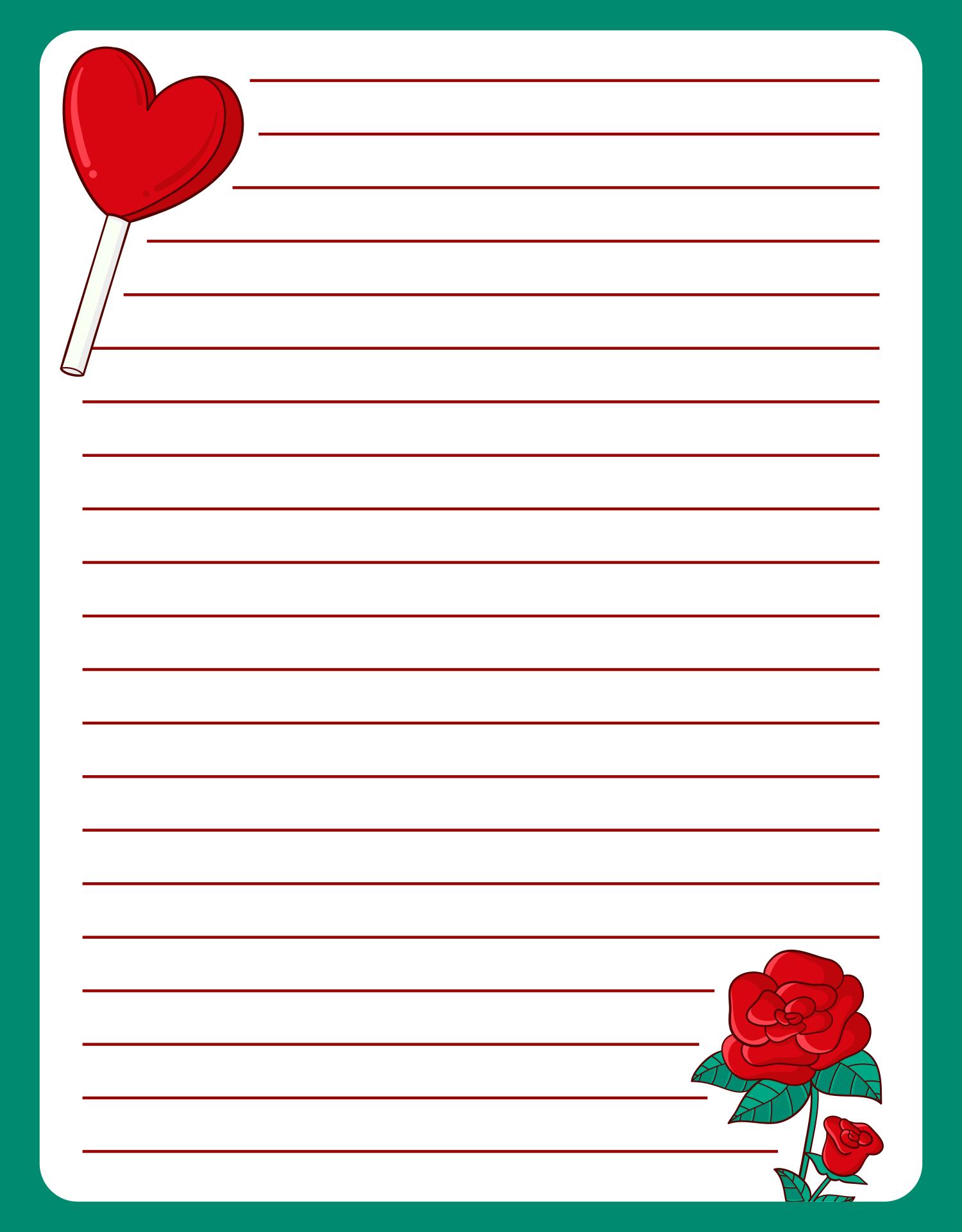 Printable Love Letter Paper