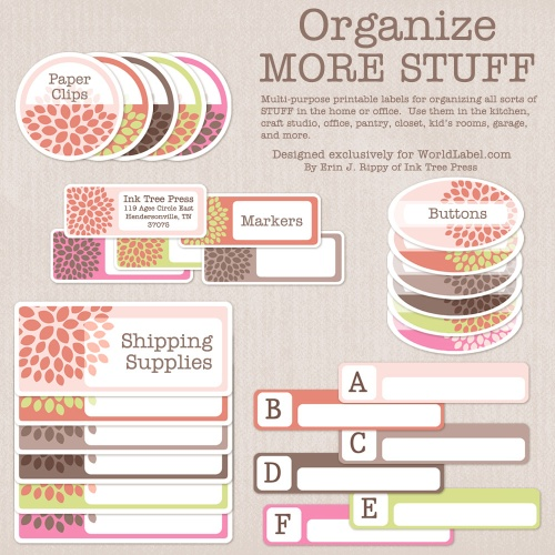 8 Images of Free Printable Organization Labels