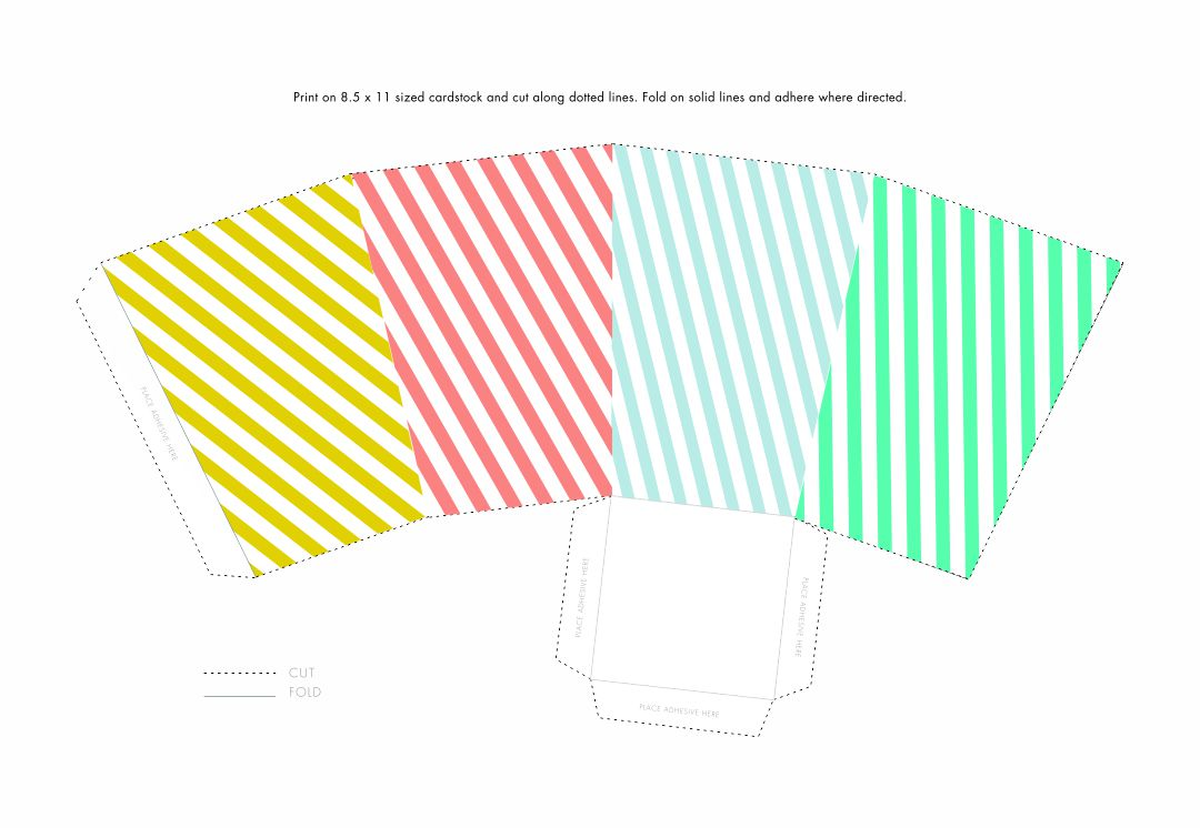 Printable Popcorn Box Template
