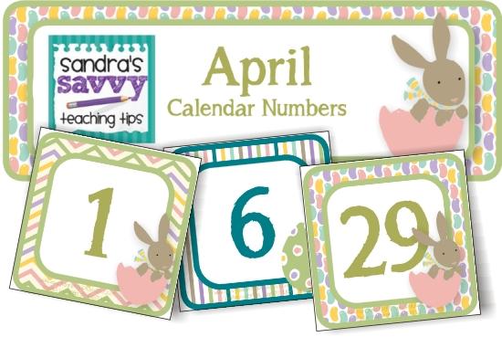 7 Images of Printable April Calendar Numbers