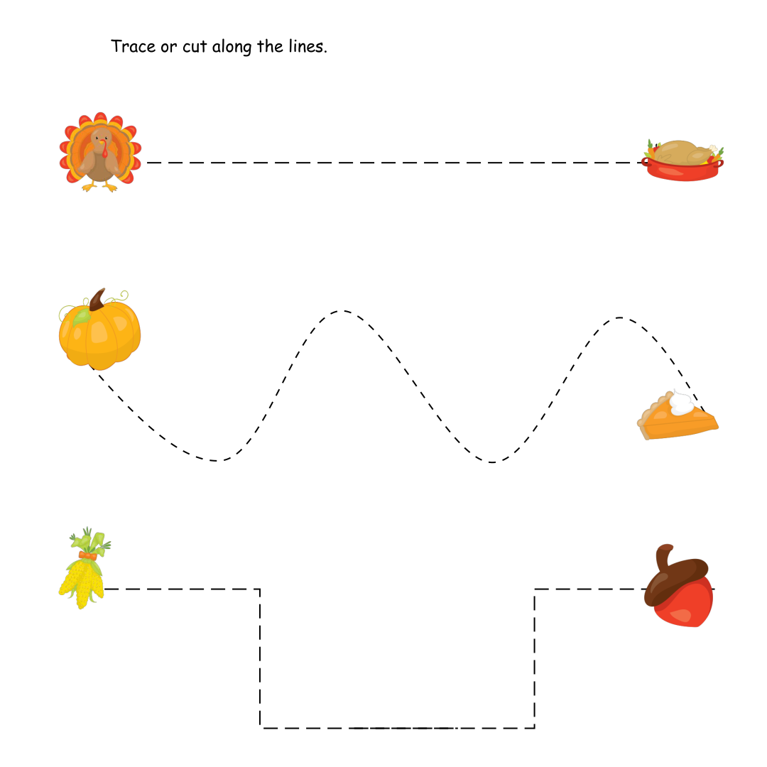6 Images of Printable Preschool Thanksgiving Crafts