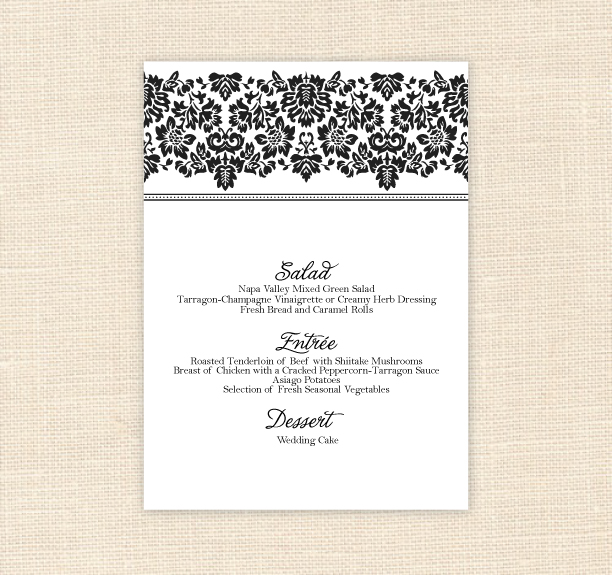 7 best images of printable menu card templates free for Free printable menu templates