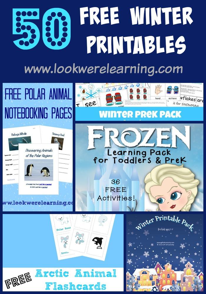 Free Printable Winter Worksheets for Kids