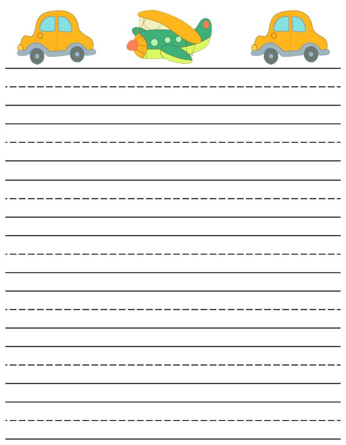 lined paper kindergarten