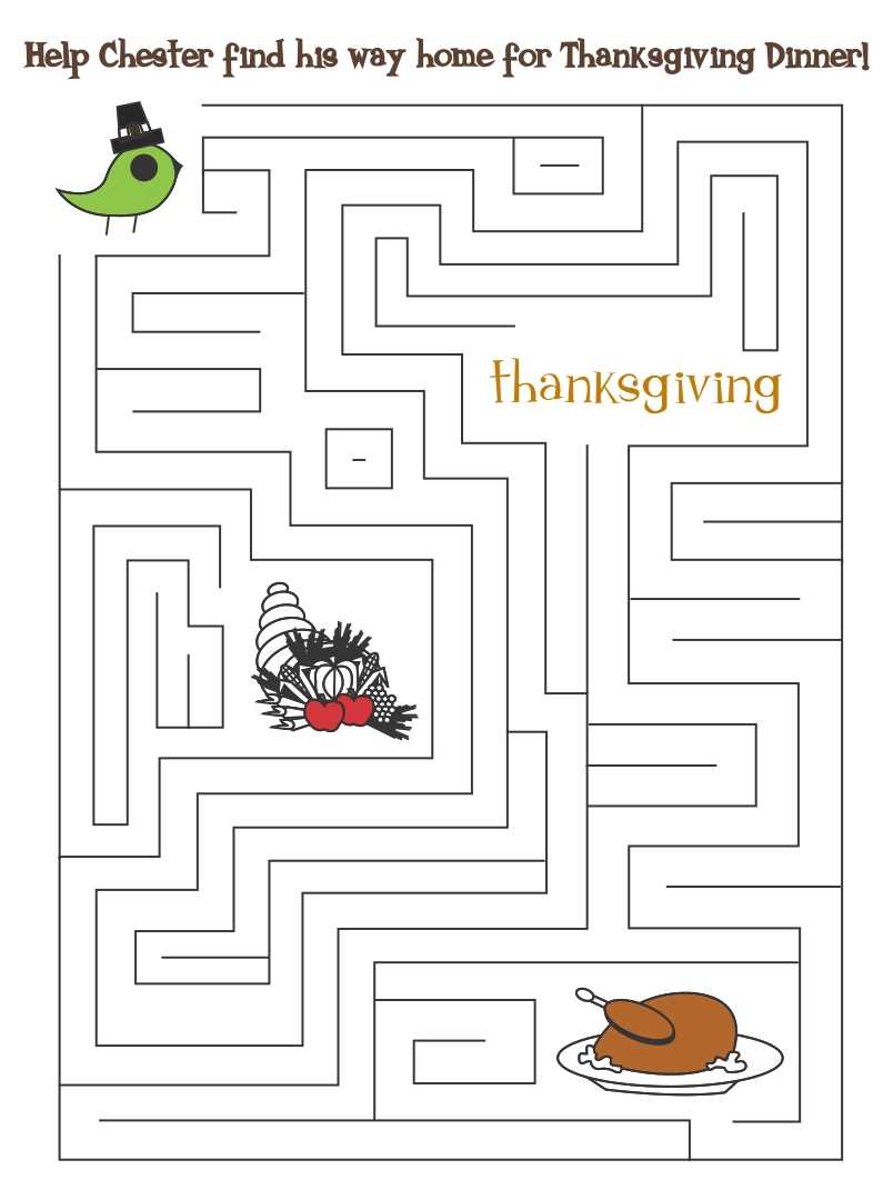 Thanksgiving Printable Puzzle Pages