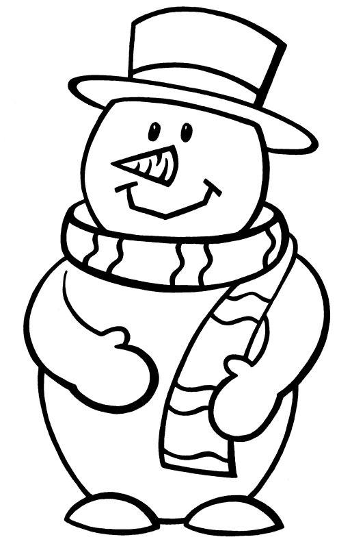Frosty Snowman Coloring Pages Printable