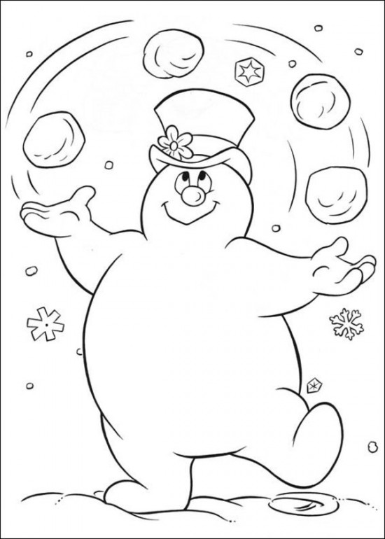 Frosty the Snowman Coloring Pages Free