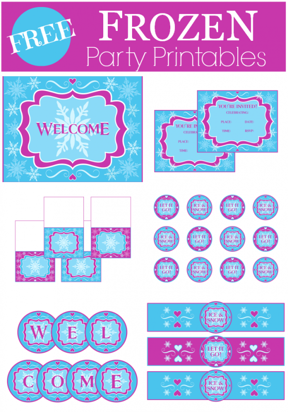 7 Images of Frozen Printables Catch My Party