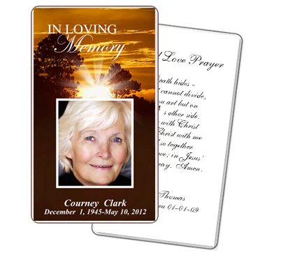 5 best images of free printable funeral prayer cards for Funeral memory cards free templates