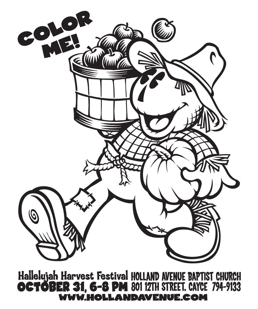 5 Images of Harvest Festival Printable Coloring