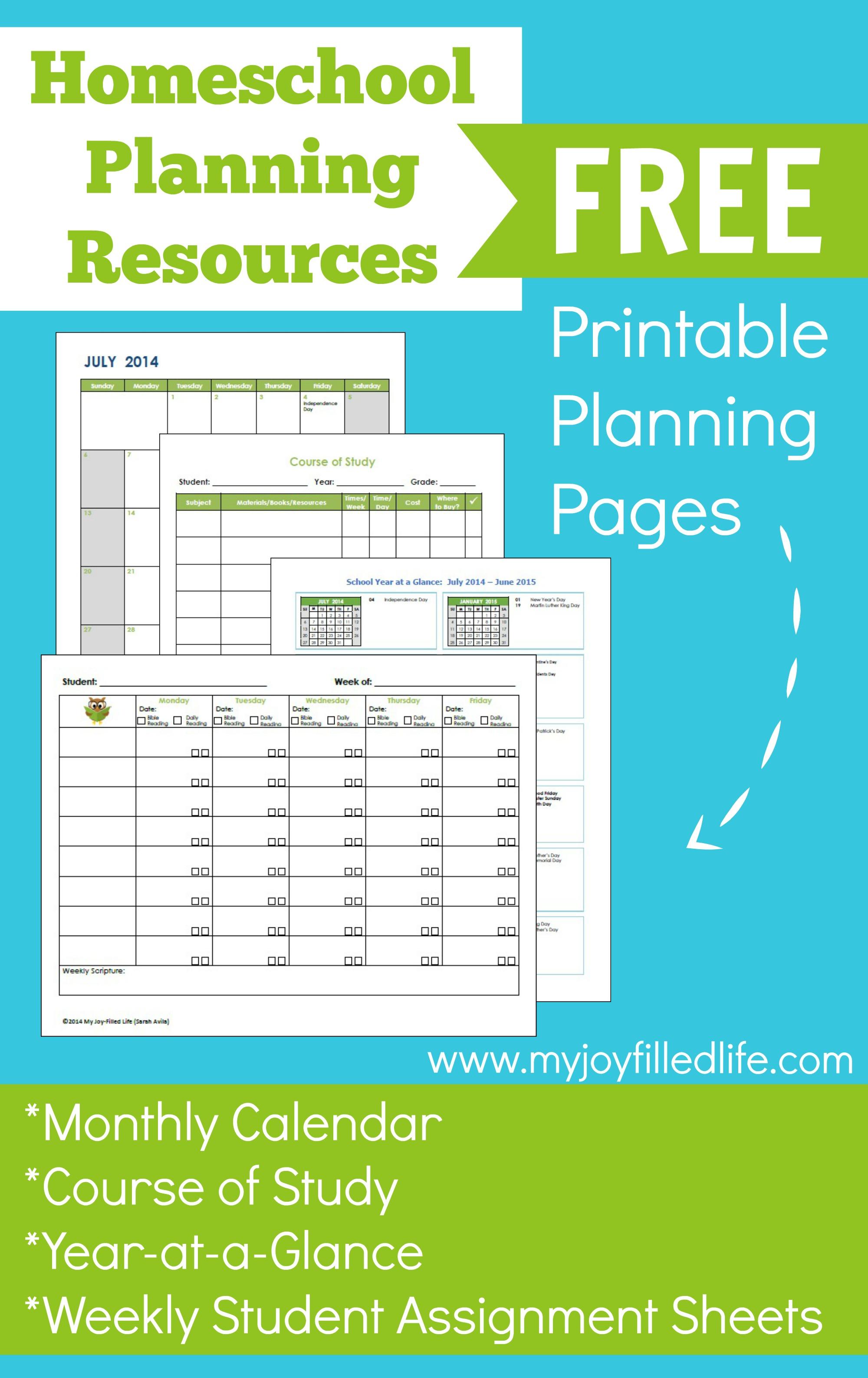 7 Images of Free Printable Homeschool Planner 2014-2015