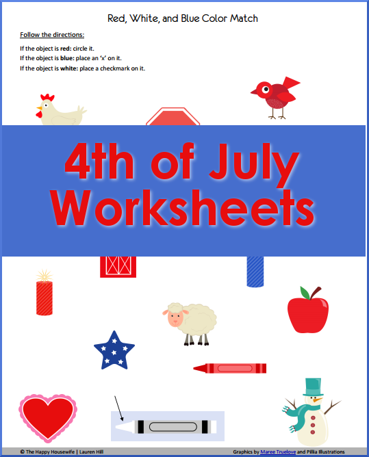 7 Images of Fourth Of July Printable Worksheets