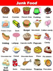 6 Images of Junk-Food Cards Printable