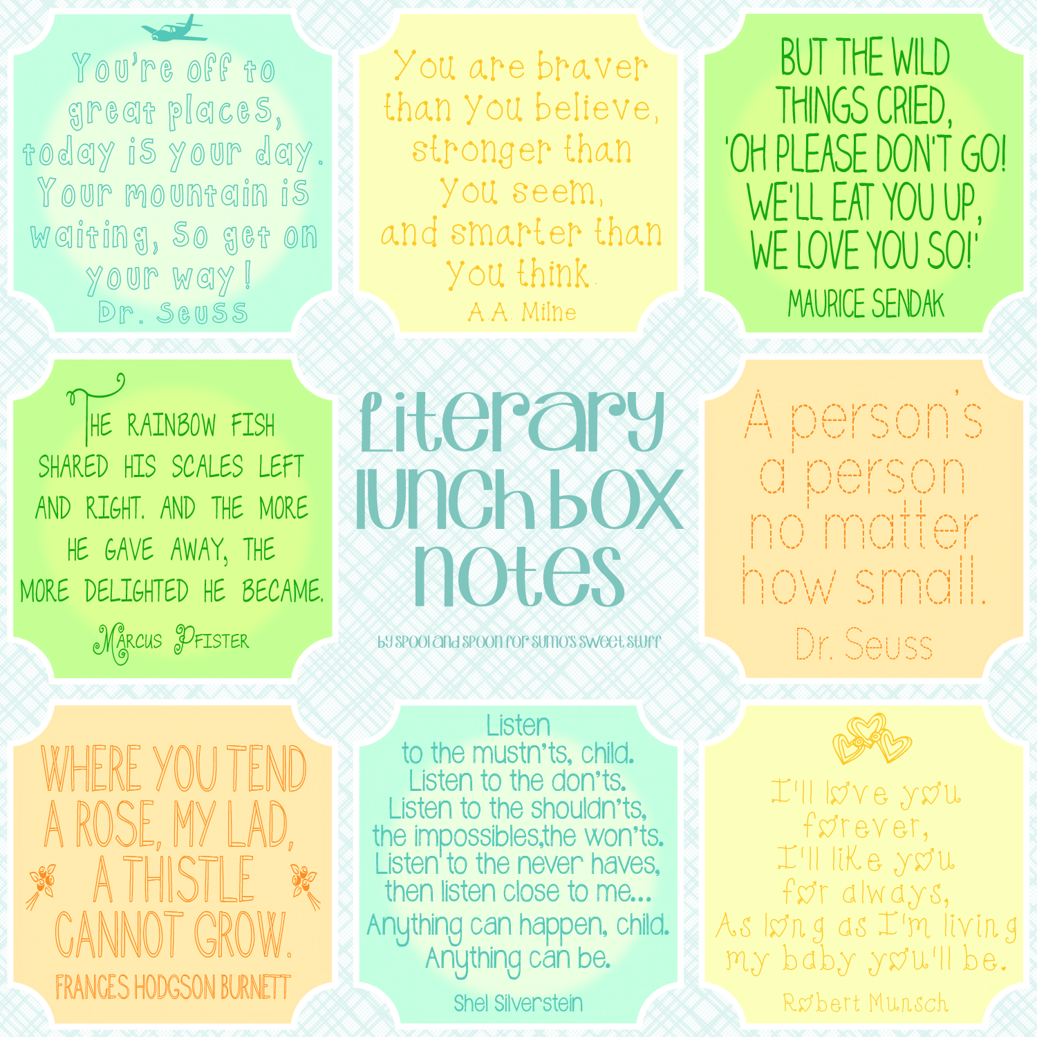 Literary Lunch Box Notes