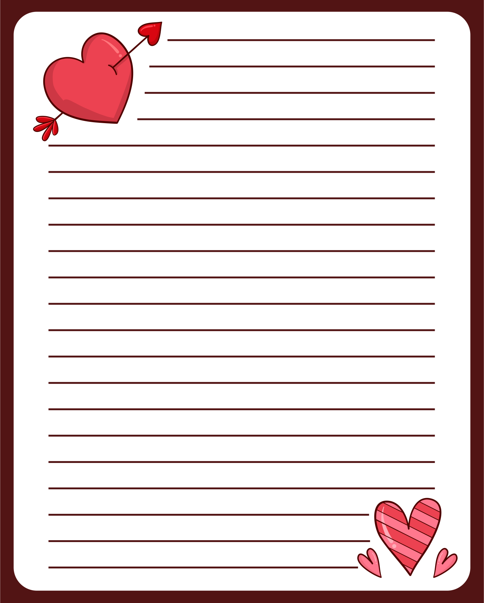 9 Images of Letter Writing Paper Printable