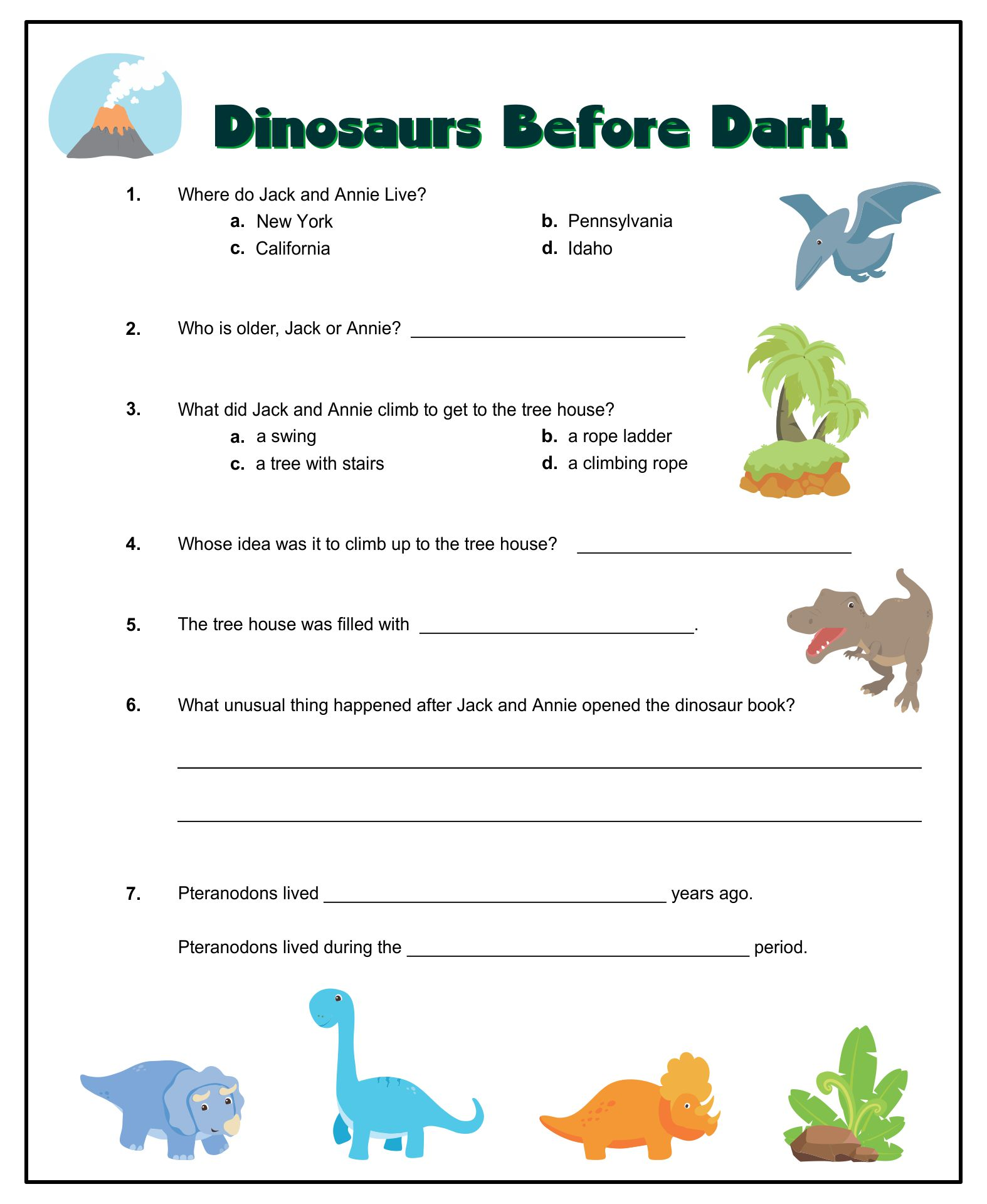 6 Images of Magic Tree House Printables