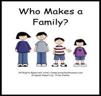4 Images of My Family Printable Preschool Activities