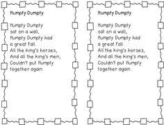 4 Images of Thumbkin Nursery Rhyme Printables