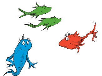 4 Images of Dr. Seuss One Fish Two Fish Printables