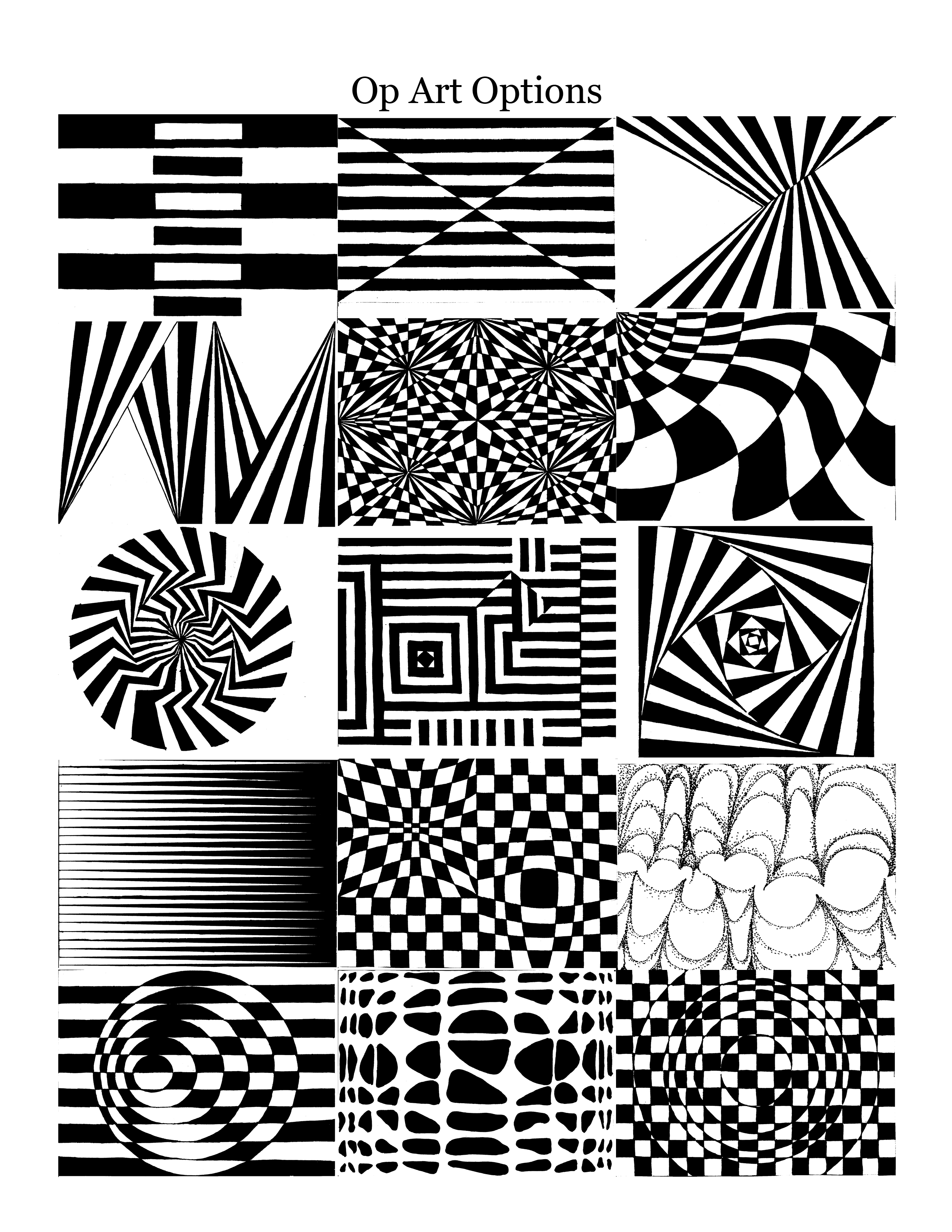Art Handouts And Worksheets : Best images of op art worksheets printable how to step