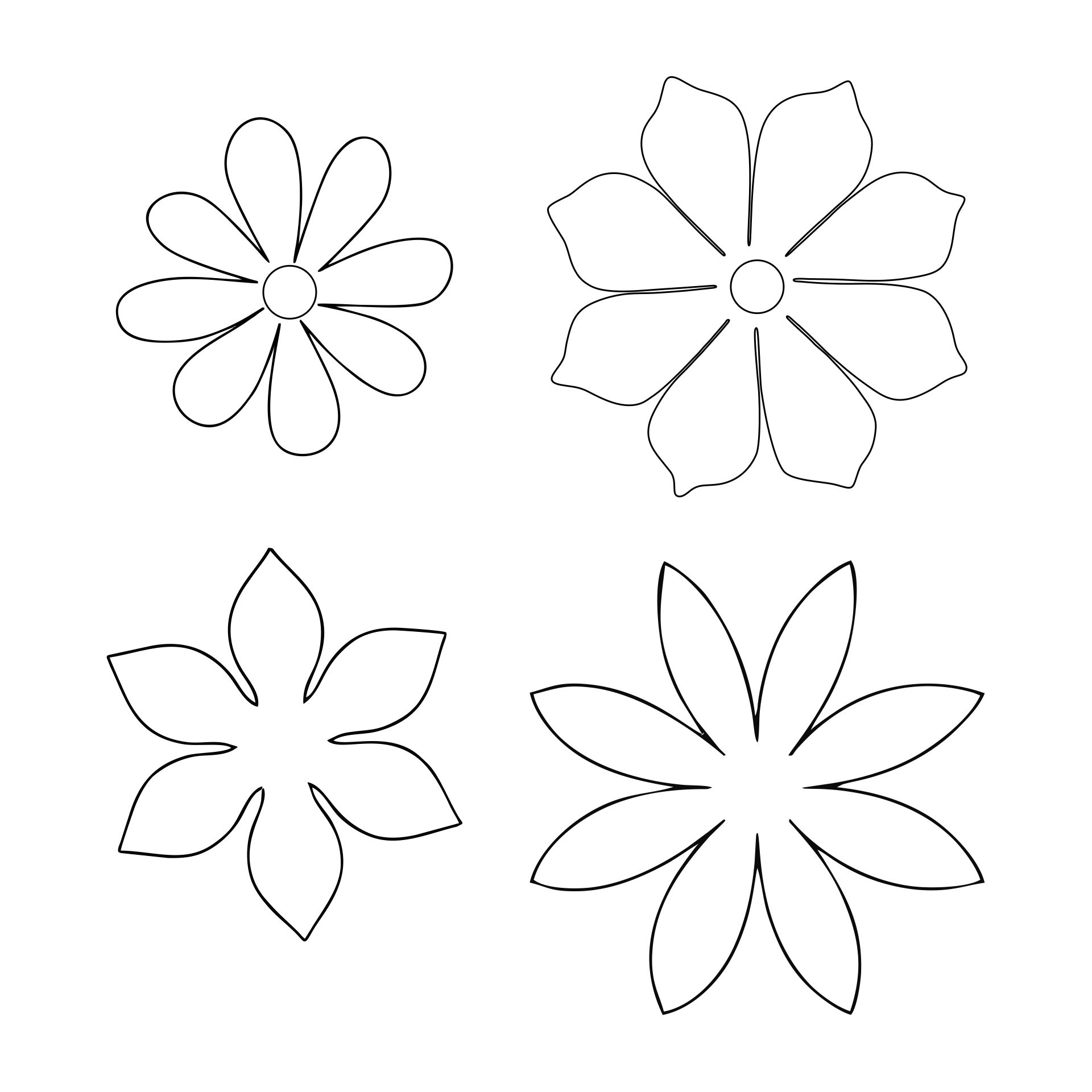 Paper Flower Templates Pattern