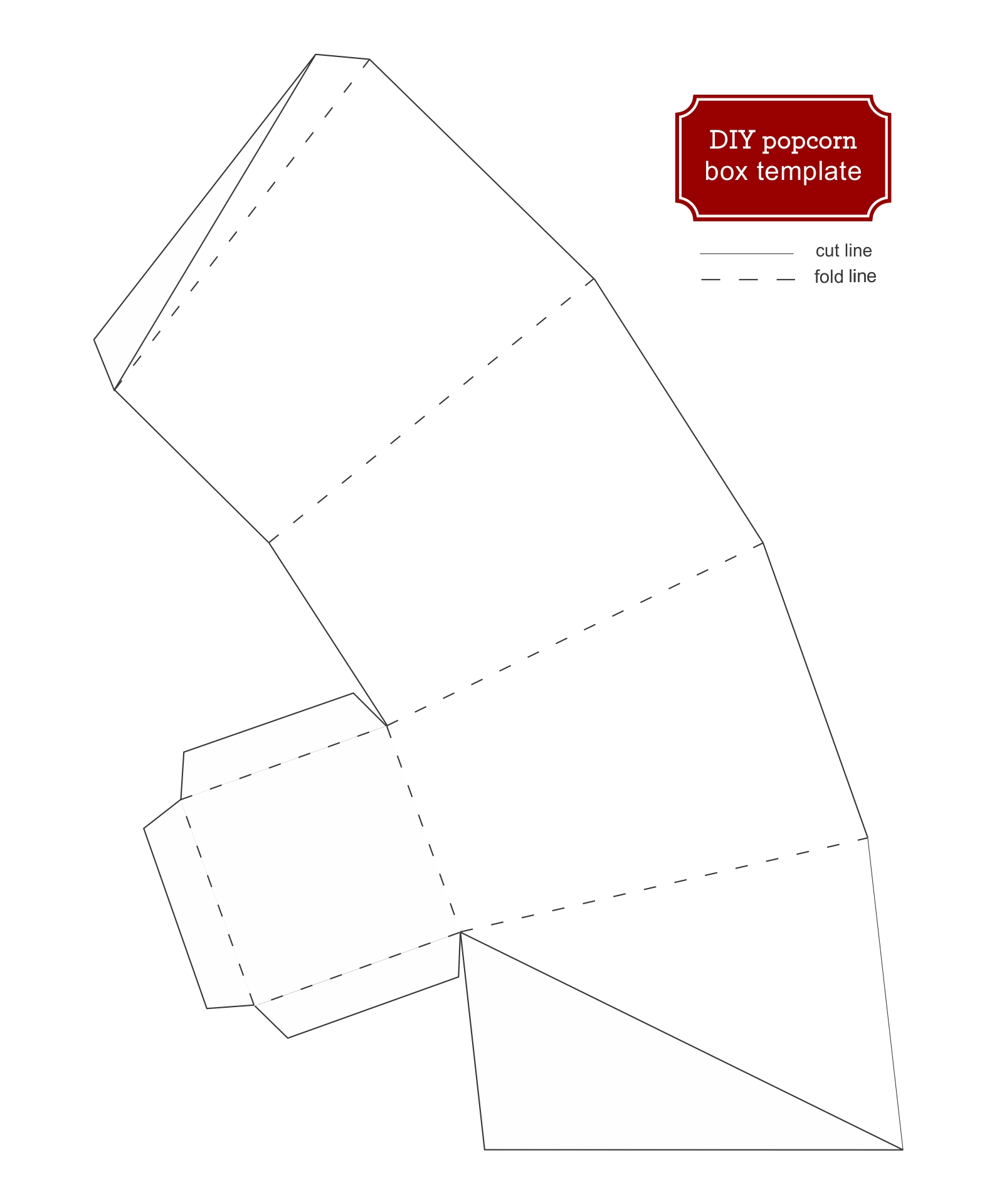 Popcorn Boxes Template