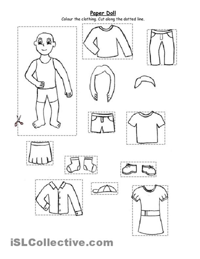 8 Best Images of Free Preschool Printables Summer Clothes