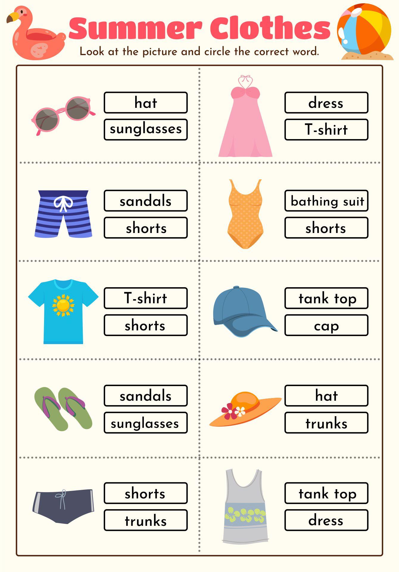 ... Worksheets, Preschool Winter Clothes Worksheets and Free Preschool