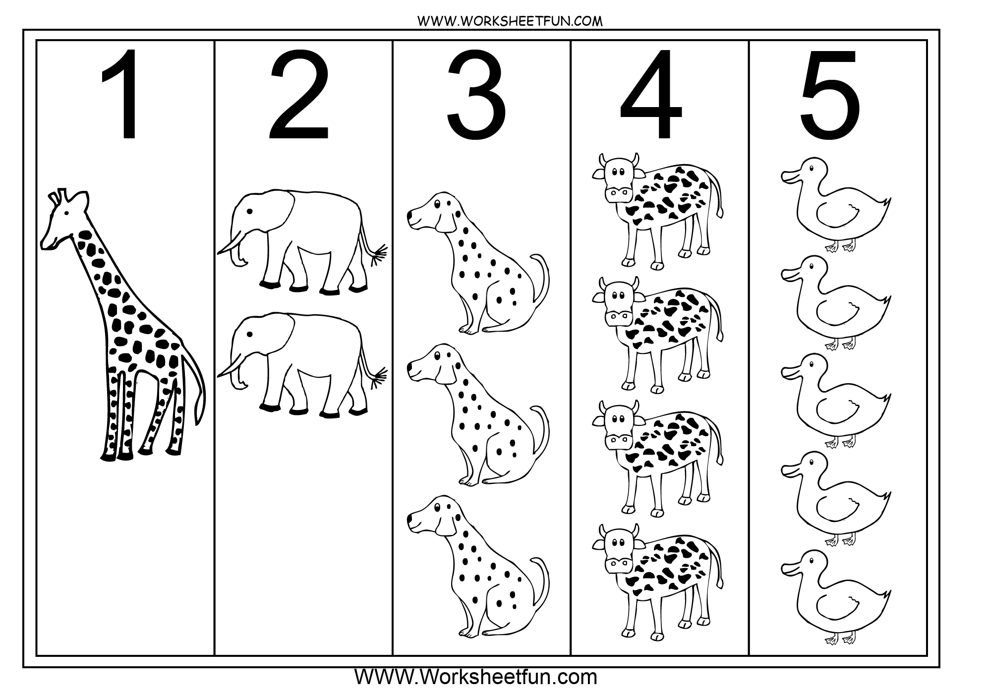 Numbers 1 5 Worksheets For Kindergarten