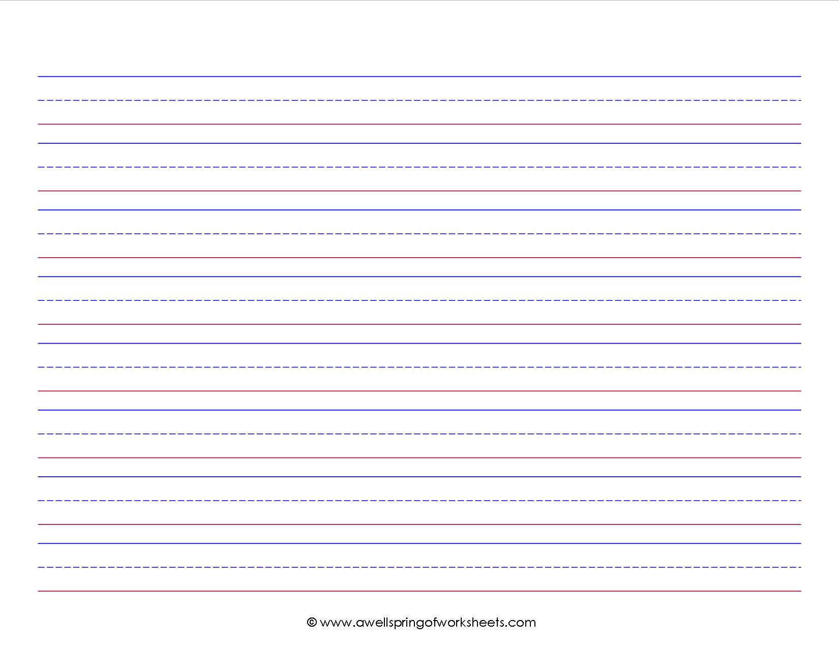 free printable 1st grade writing paper