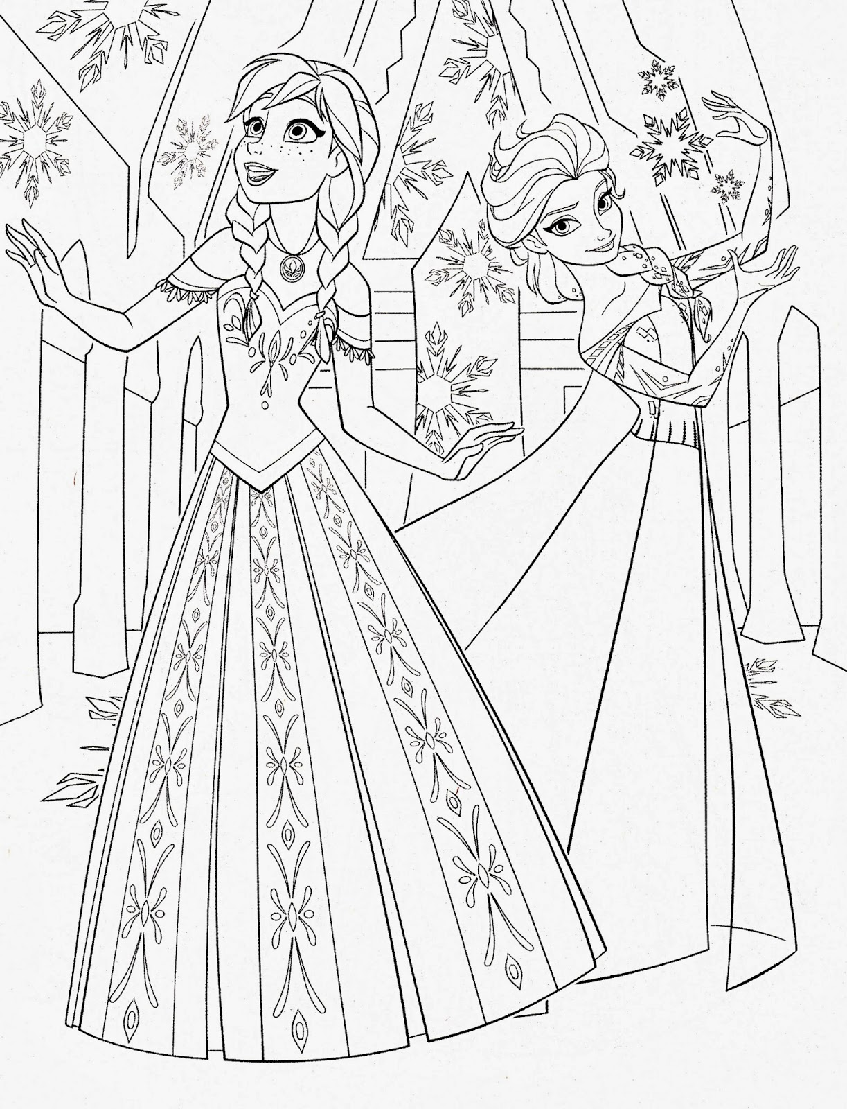 6 Images of Frozen Coloring Paper Dolls Printable